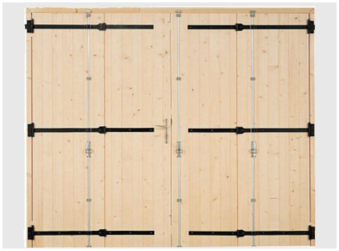 portes de garage en bois avec 2 vantaux. Black Bedroom Furniture Sets. Home Design Ideas
